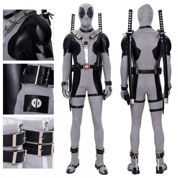 White Deadpool Cosplay Costumes X-Force Deadpool Cosplay Suit