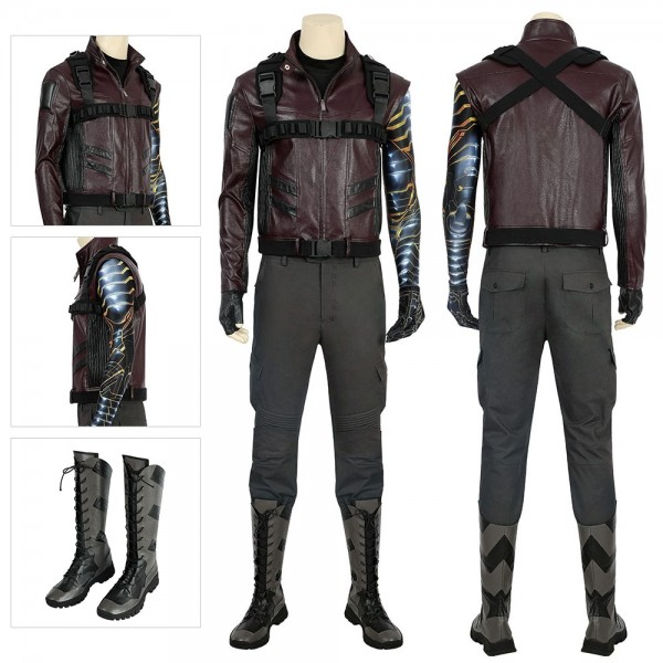 Winter Soldier Costumes The Falcon and the Winter Soldier Cosplay Suit