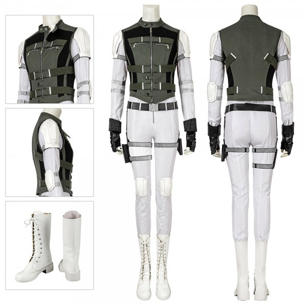 Yelena Belova Cosplay Costumes Black Widow Sister White Cosplay Suit