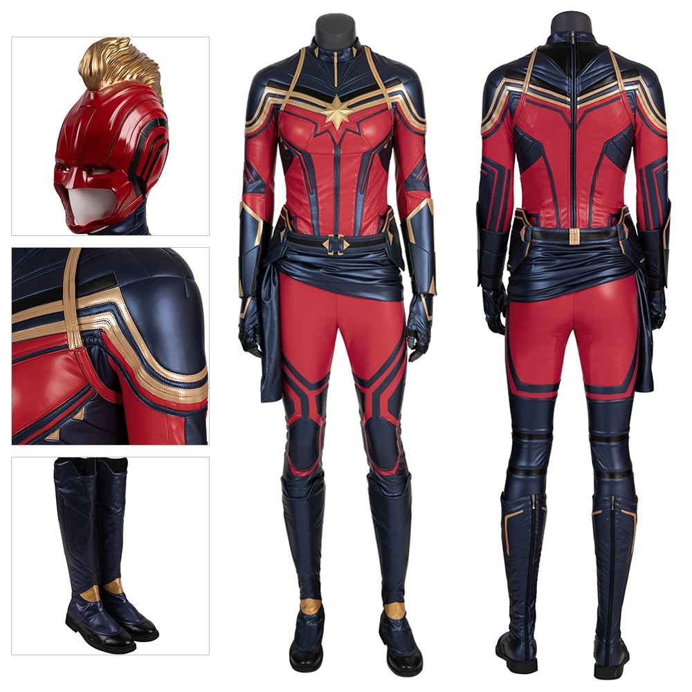 Captain Marvel Cosplay Suits Avengers Endgame Cosplay Outfits Xzw190288 This is the captain marvel carol danvers cosplay costume red version we designed and produced in the fastest time after the trailer was released. captain marvel costume carol danvers endgame cosplay suits deluxe