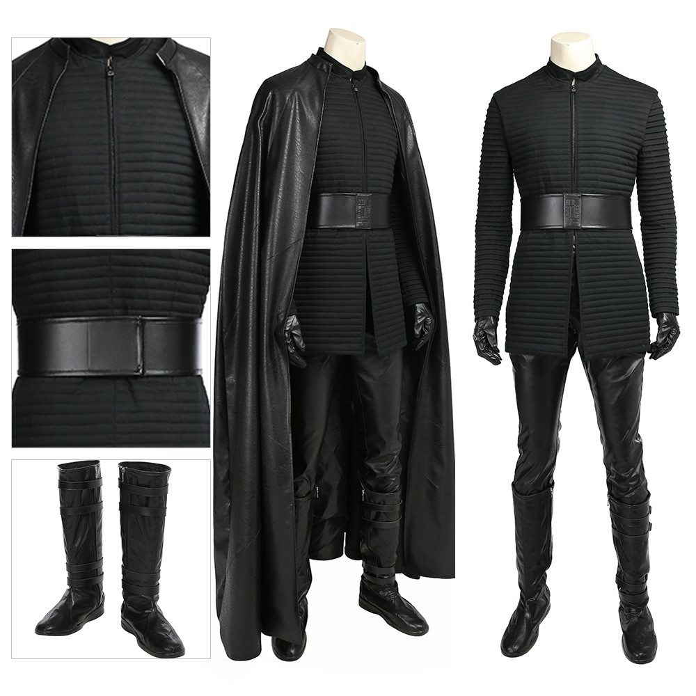 Kylo Ren Cosplay Costume Star Wars 8 The Last Jedi Deluxe Edition